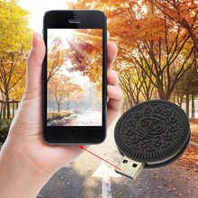 Portable and Cute Cookie Round Shape USB Stick Flash Drive USB2.0 Interface 8G/16G/32G Capacity Storage Thumb Stick