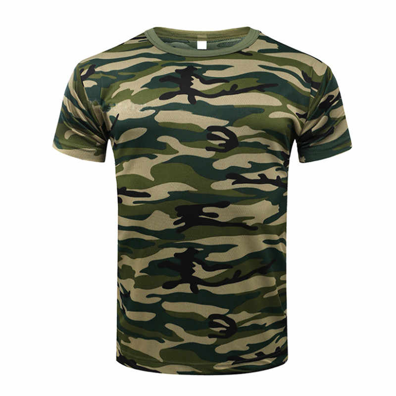 2018 Camouflage Sneldrogende Ademend T-shirt Panty Leger Tactische T-shirt Mens Compressie Shirt Fitness Zomer Body Bulding