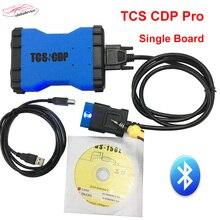 2017 новейший TCS CDP PRO плюс зеленый Single доска с Bluetooth + KEYGEN TCS CDP Pro Plus OBD2 сканер 12 в/24 В Car + Truck Бесплатная доставка