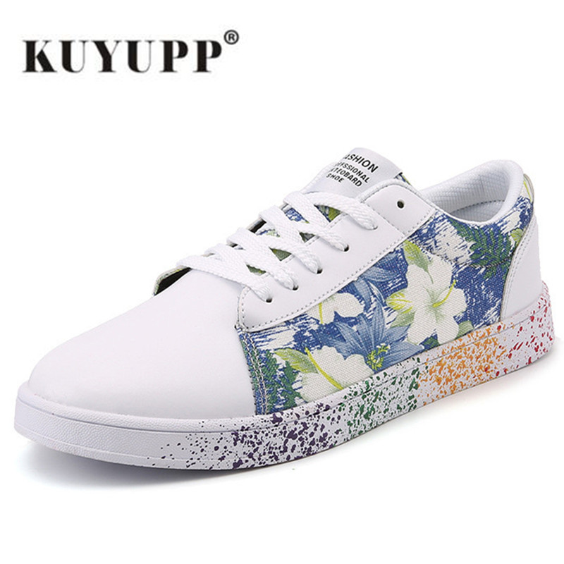 Zapatos Planos de Las Mujeres Superstar Lace up Graffiti Transpirable Casual Zap