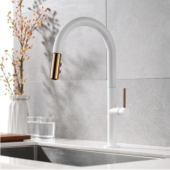 Pull Out Kitchen Faucet Newly Arrived Rose gold and Black Sink Mixer Tap 360 degree rotation kitchen mixer taps Kitchen Tap