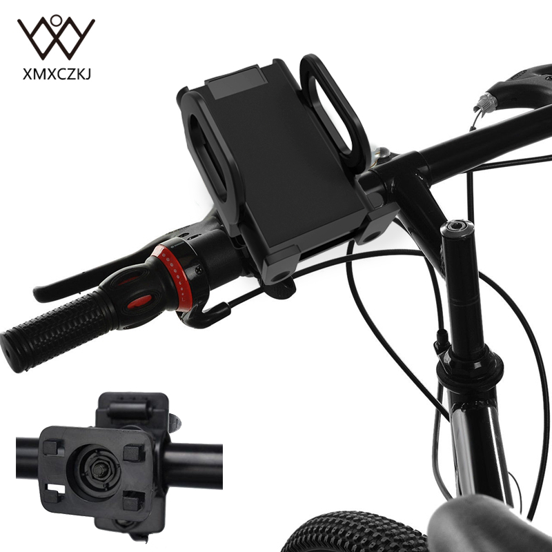 Universal <font><b>Bike</b></font> <font><b>Holder</b></font> Bicycle Handlebar Mobile <font><b>Phone</b></font> <font><b>Holders</b></font> 360 Degree Rotating Stand Cushion Mount Base For iPhone Samsung LG image