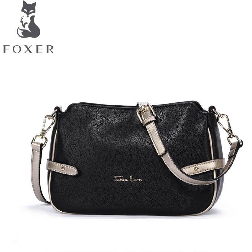 FOXER2018 high-quality fashion luxury brand new handbag casual soft leather ladies bag shoulder bag small square bag foxer 2016 new high end luxury fashion leather handbag shoulder diagonal package of 100
