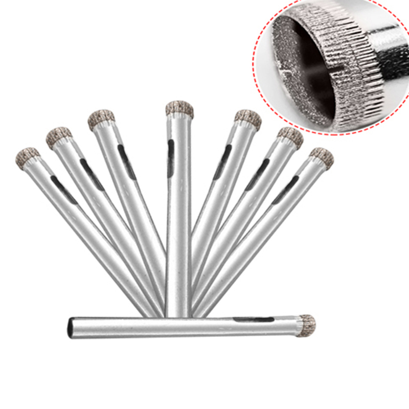 10Pcs 6mm Diamond Coated Tool Drill Bit Hole Saw Set Glass Ceramic Marble Tile P0.05 punch 10 mm nickel plating glass drill bit marble ceramic tile x 6