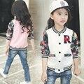 Nova Chegada 2017 meninas Primavera e No Outono roupas de beisebol adolescente meninas casacos e jaquetas para crianças da marca de moda outerwear