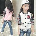 Nueva Llegada 2017 niñas ropa de Primavera y Otoño de béisbol adolescente niñas abrigos y chaquetas de los niños prendas de vestir exteriores de la manera marca