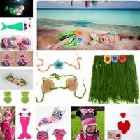 Yenidoğan Kız Bebek Sahil Hula Çim Etek Set Tığ Örgü Kostüm Kıyafet Fotoğrafçılık Dikmeler Kızlar Comig Ev Kıyafetler MZS-15001