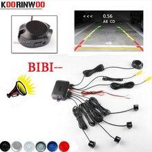 Koorinwoo Sensor de aparcamiento con vídeo para coche, dispositivo de asistencia de Radar marcha atrás y alarma de aumento, distancia de reproducción, 2020 CPU de doble núcleo