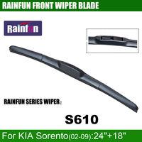 RAINFUN Dedicated Car Wiper Blade For KIA SORENTO 08 Dedicated Windscreen Wiper Natural Windshield Auto Wiper