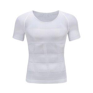 Image 3 - Mens Giảm Béo Cơ Thể Shaper Tummy Shaper T Shirt Slim Lift Corset Eo Cơ Bắp Tráng Áo Sơ Mi Chất Béo Ghi Tư Thế Chính Xác Underwears