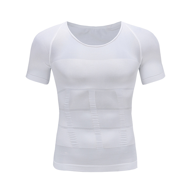 Image 3 - Mens Slimming Body Shaper Tummy Shaper T shirt Slim Lift Corset Waist Muscle Girdle Shirt Fat Burn Posture Correct Underwears-in T-Shirts from Men's Clothing