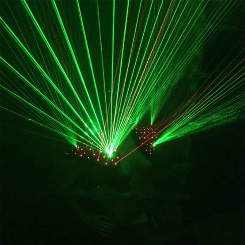 New Design Red Green Laser Waistcoat Laserman Vest Suits Man Clothes - Festive and Party Supplies