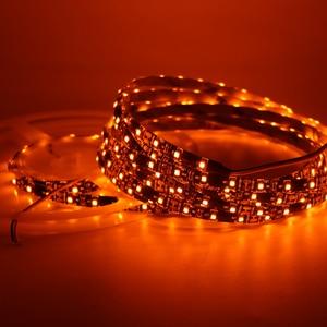 Image 4 - Orange Led Flexible Strip Light 3528 SMD 60led/m 120led/m 600nm True Orange no Amber Yellow Led Flexible Tape Black lamp 1m 5m