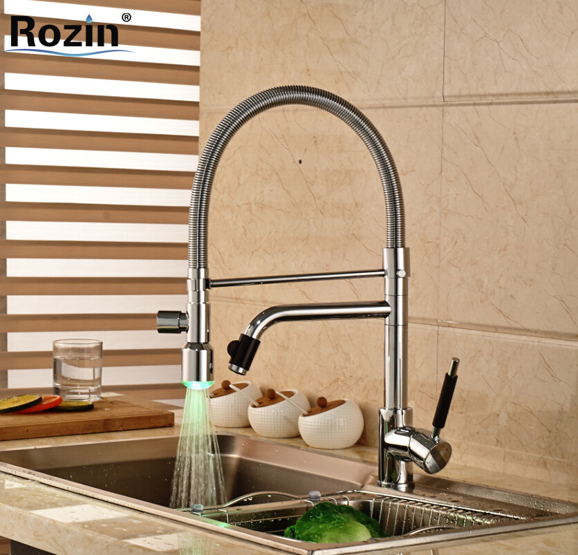 Brand New Pull Down Hands Free Sprayer Kitchen Sink Faucet Deck Mount Single Lever Mixer Tap
