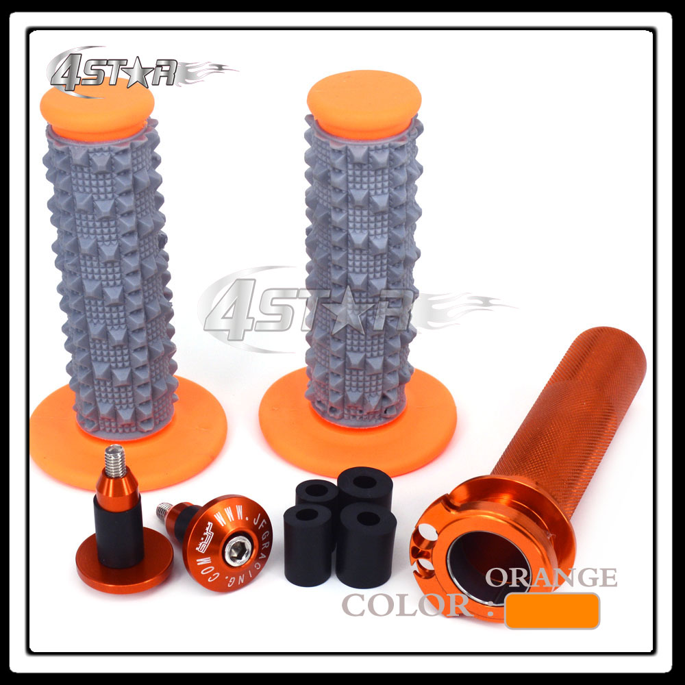 Grips For Ktm Sxf Xcf Excf Xcfw Exc Xcw 250 350 450 Sxr 400-530 Buy One Give One Handlebar Caps Plugs Considerate Billet 7/8 22mm Twister Throttle Tube
