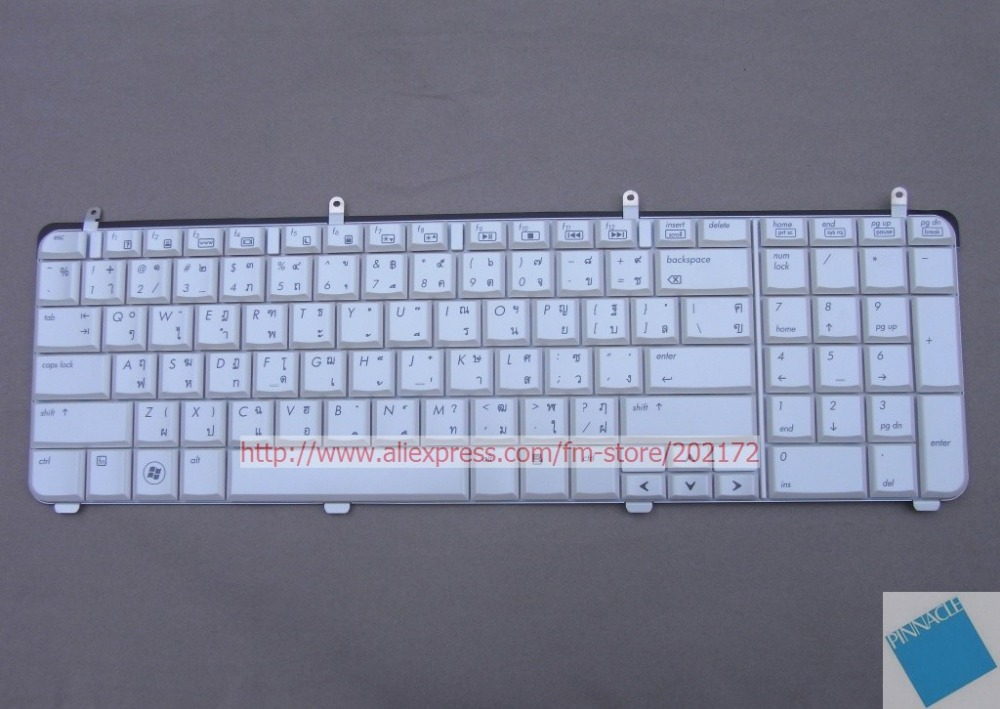 Brand New White Laptop  Notebook Keyboard 516357-281 532805-281   For  HP Pavilion DV7 series  (Thailand)100%  compatiable us free shipping new russia white laptop keyboard for msi wind u130 u135 u135dx u160 u160dx ru white frame laptop keyboard