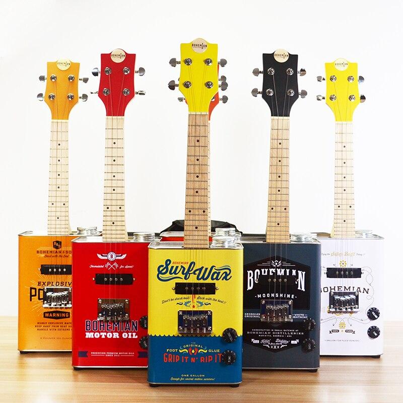 Guitare bohème série Boho ukulélé avec étui-ukulélé Soprano électronique