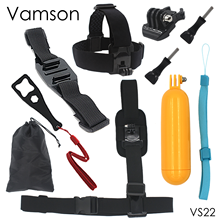 9 in 1 Vamdon for GoPro Accessories Floaty Bobber Monopod Wrench Kit Shoulder Strap Tripod For Gopro Hero 4 3+for Xiaomi VS22