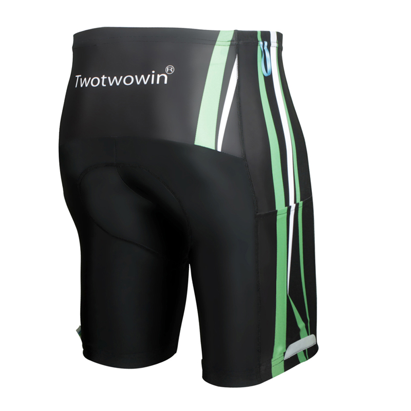 Pad Moto Shorts Bicycle Cycling Shorts With Pocket Silicon Gel Padded Shockproof Bike Men Short Pants Reflective Cycling Tights
