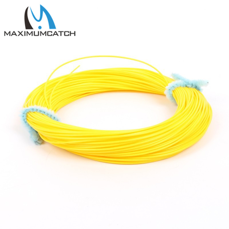 Maximumcatch 0.7mm/0.9mm Shooting line Fly Fishing Line Yellow and Orange 100FT Running Line Fly Line