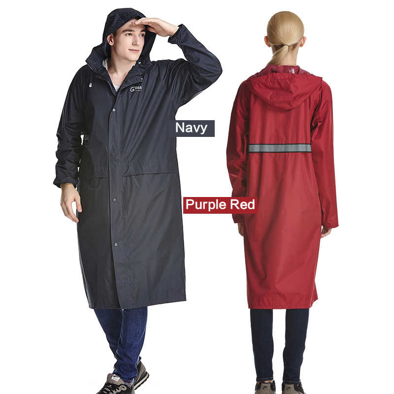 QIAN RAINPROOF Impermeable Long Style Raincoat Adults Waterproof Trench Coat Poncho Rain Coat Female Rainwear Rain Gear Poncho