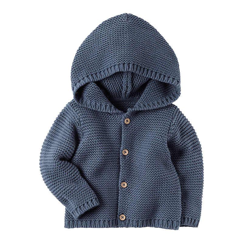 Pasgeboren Trui Jas Baby Jongens Meisjes Vesten Hoodie Herfst Winter Pasgeboren Jassen Kleding Warm Breien Baby Jas Bebe