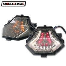 Dla YAMAHA YZF R3 R25 YZF R3 YZF R25 MT 07 FZ 07 MT 03 MT 25 motocykl tylne światła hamowania kierunkowskazów zintegrowana lampa LED światła