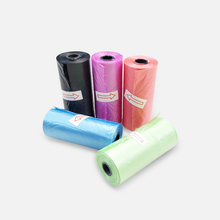 8Rolls120 pcs Pet Dog Biodegradable Waste Pooper Scooper Bag on Board Trash garbage Bags Cleaning Supplies Poop