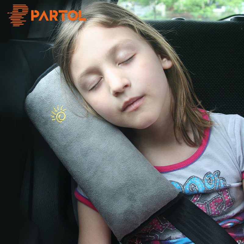 Partol Automobile Safety Seat Belt Cover Pad Car Styling Seat Belt Shoulder Protection Pillow Shoulder Strap Case Blue/Pink/Grey grey plain ripped details one shoulder playsuits with belt