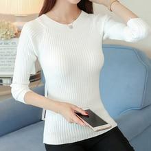 New winter sweater dress Korean Short slim  bottoming shirt sleeve head all-match female coat