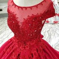Готическое атласное красное свадебное платье с объемными цветами и кружевными бусинами Abiti Da Sposa с рукавом крылышком, Boho, свадебные платья с