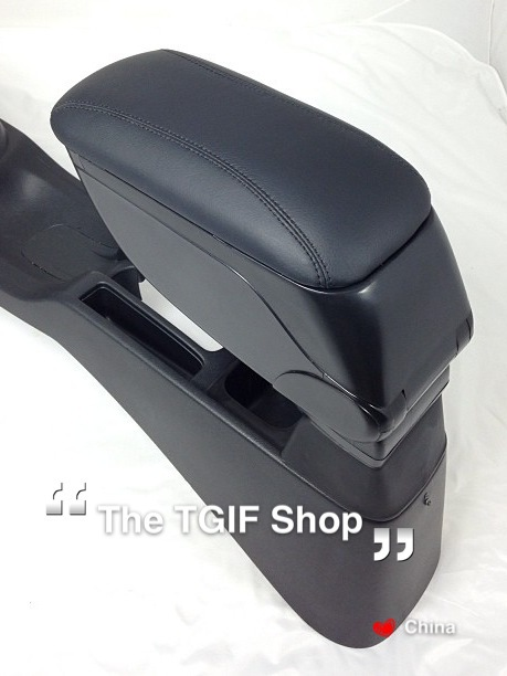 Fit Jazz Honda 2009 2013 Armrest Box Good PVC Leather And ABS Pastic With  Screw
