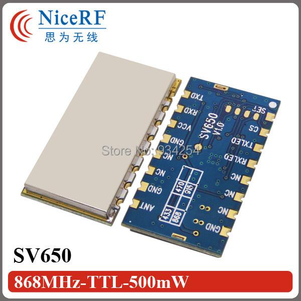 4 unids SV650 500 mW 868 MHz Interfaz RS485 3 km incrustado tamaño pequeño módulo inalámbrico de alta potencia de forma gratuita gratis
