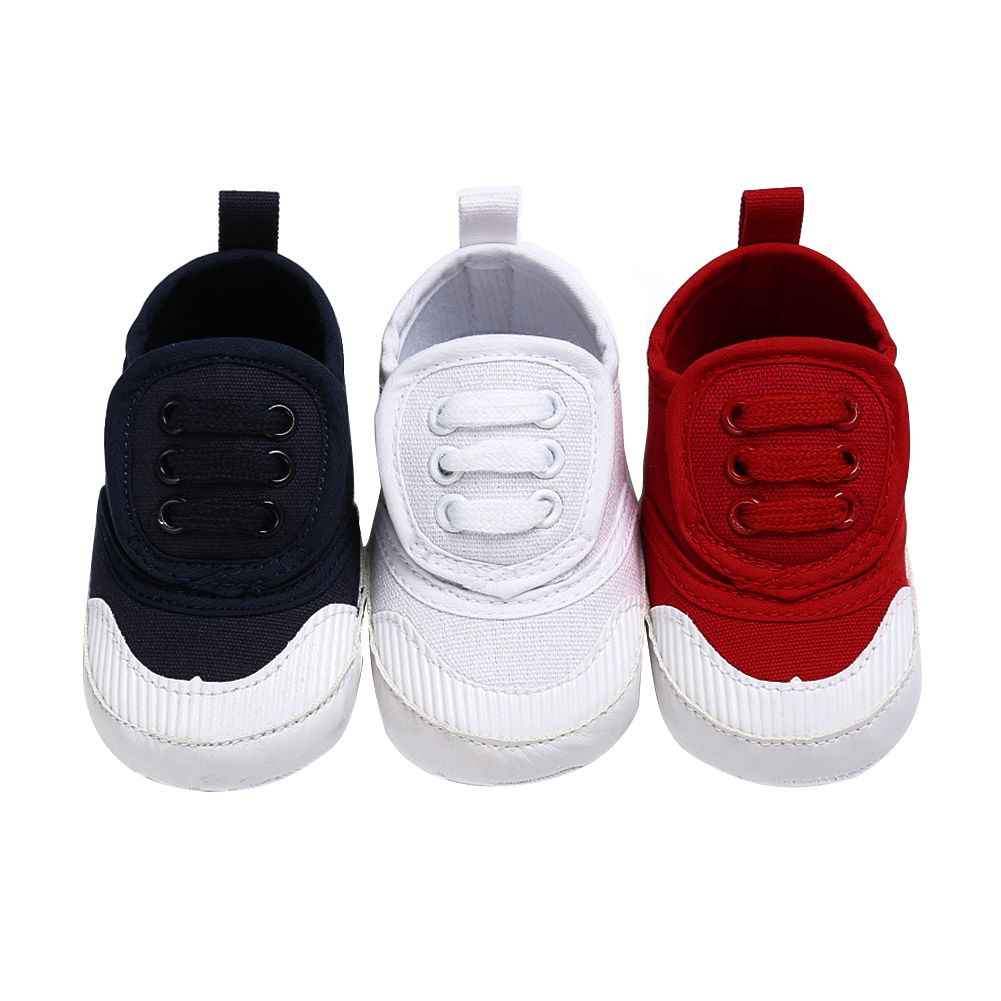 2017 Autumn Non-slip Baby First Walkers Canvas Soft Sole Newborn Infant Crib Shoes Baby Boy Sneakers Toddler Girl Cute Shoes