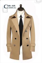 Браун англия весна двубортный траншеи пальто мужчины slim fit средней длины одежда мужчина мужские пальто весте homme высокие качество 9XL