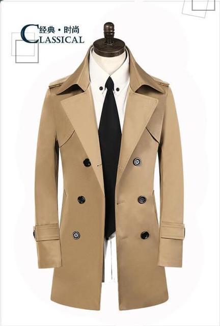 Cappotto lungo uomo marrone