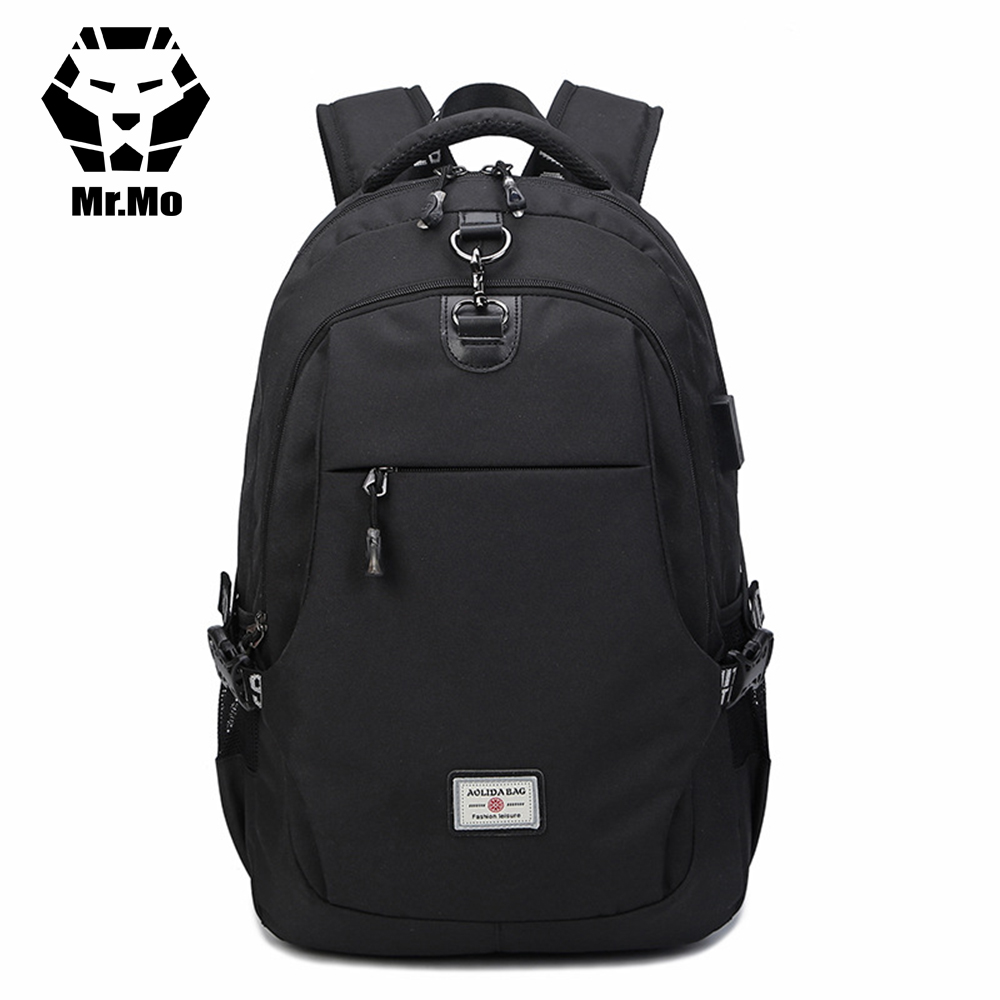 Summer New Oxford With Charge Port USB Bagpack 15.6 Laptop NoteBook Accessaries Backpack For Men Bookbag for Boy Male Mochila