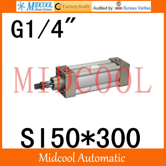 SI series ISO6431Standard cylinder SI50*300 port 1/4 bore 50mm Adjustable cylinder si series iso6431standard cylinder si160 200 port 3 4 bore 160mm adjustable cylinder