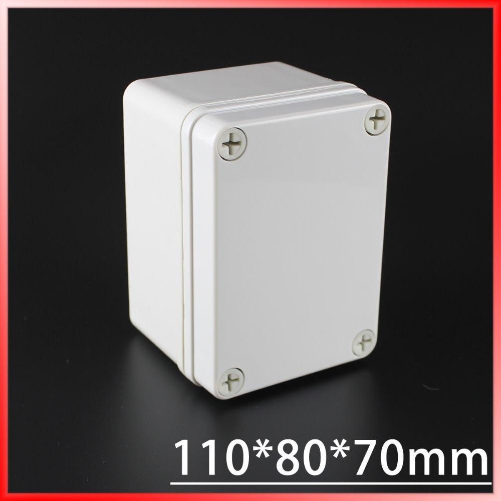 110*80*70MM IP67 Waterproof Plastic Electronic Project Box w/ Fix Hanger Plastic Waterproof Enclosure Box Housing Meter Box