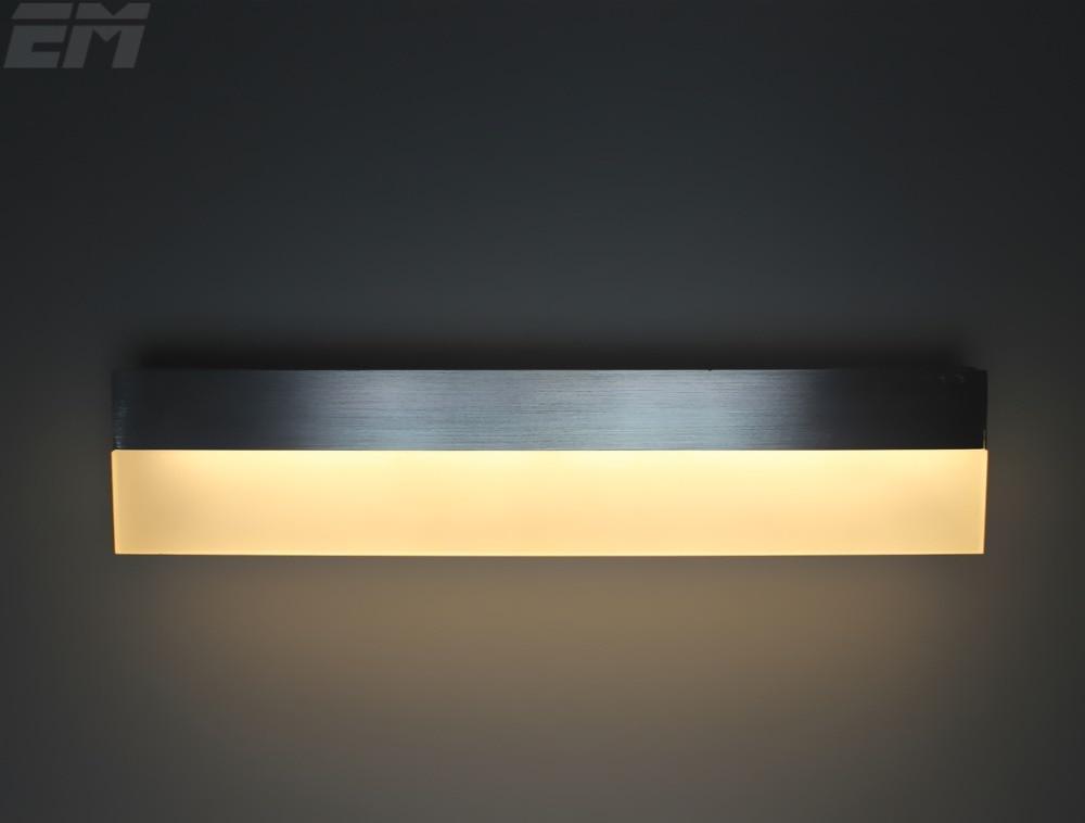 ФОТО Modern Style Led Wall Lamp 38cm Aluminum Acrylic 90~260V 10W Bathroom Mirror Light Bedside Reading Lamp Bedroom Lighting GWL051