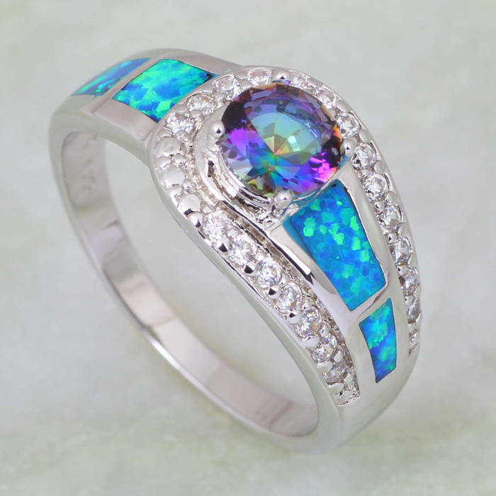 Mystic Topaz Mens Ring