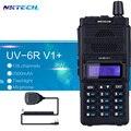 Nktech 8 w uv-6r v1 + vs uv-6r walkie talkie baofeng de radio de doble pantalla vhf136 ~ 174 mhz/uhf400 ~ 520mhz128ch + 2ppt altavoz