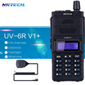Nktech 8 w walkie talkie baofeng uv-6r dual display rádio uv-6r v1 + vs vhf136 ~ 174 mhz/uhf400 ~ 520mhz128ch + falante 2ppt