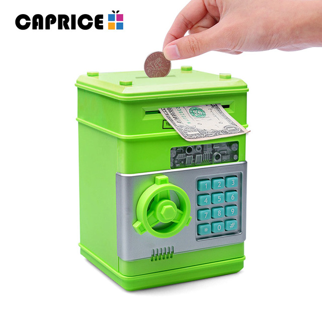 Digital Piggy Bank Plastic Money Box Cash Boxes Deposit Coins Saving Secret Mini ATM Machine ...