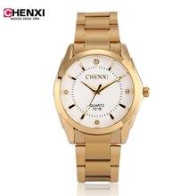 Relojes de los hombres de primeras marcas de lujo CHENXI Reloj de Oro Simple Reloj Hombre Reloj de Oro de Cuarzo Analógico horas Reloj de Pulsera Relogio