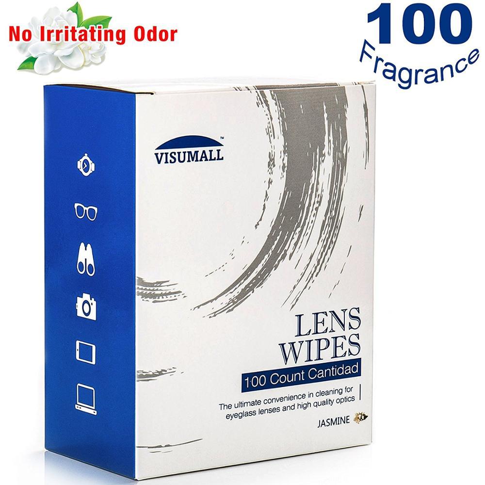 VISUMALL 100 pcs Fragrance Cleaning Wipes For Camera Binoculars Eyeglasses font b Computer b font Optical