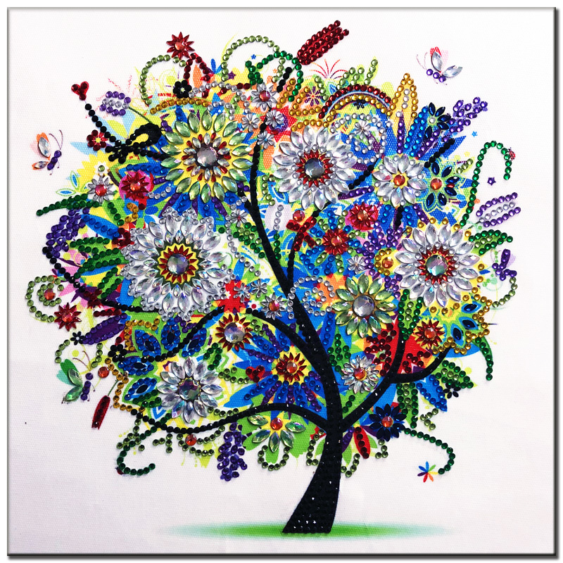 RUBOS DIY 5D Diamond Embroidery Colorful Tree Butterfly Bead Diamond Painting Cross Stitch Pearl Crystal Sale Hobby Gift Decor (18)