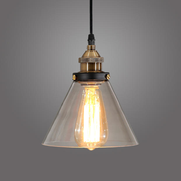 IWHD Loft Style Industrial Pendant Lighting Edison Vintaget Pendant Light Lamp In Glass Shade Free Shipping iwhd loft style creative retro wheels droplight edison industrial vintage pendant light fixtures iron led hanging lamp lighting