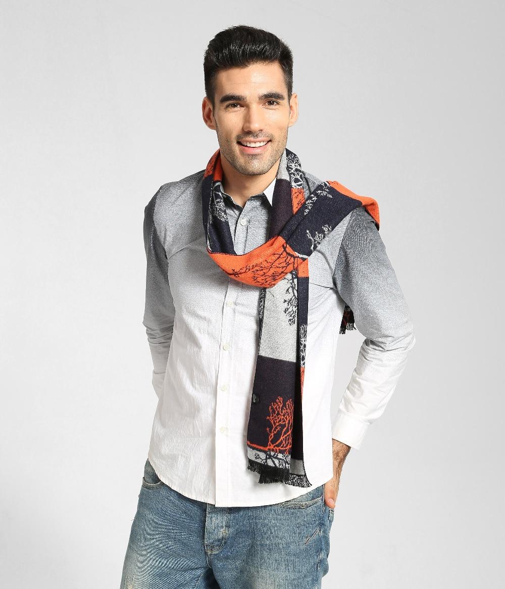 YILIAN Brand New 3 rəngli moda pambıq eşarp Qış boyu kişilər - Geyim aksesuarları - Fotoqrafiya 4