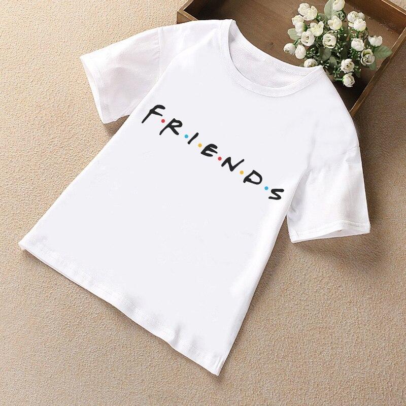Новое поступление, футболка унисекс для мальчиков и девочек, Забавные футболки для мальчиков с надписью «Cute Friends», белая Удобная футболка с круглым вырезом для детей, 2019|Тройники| - AliExpress